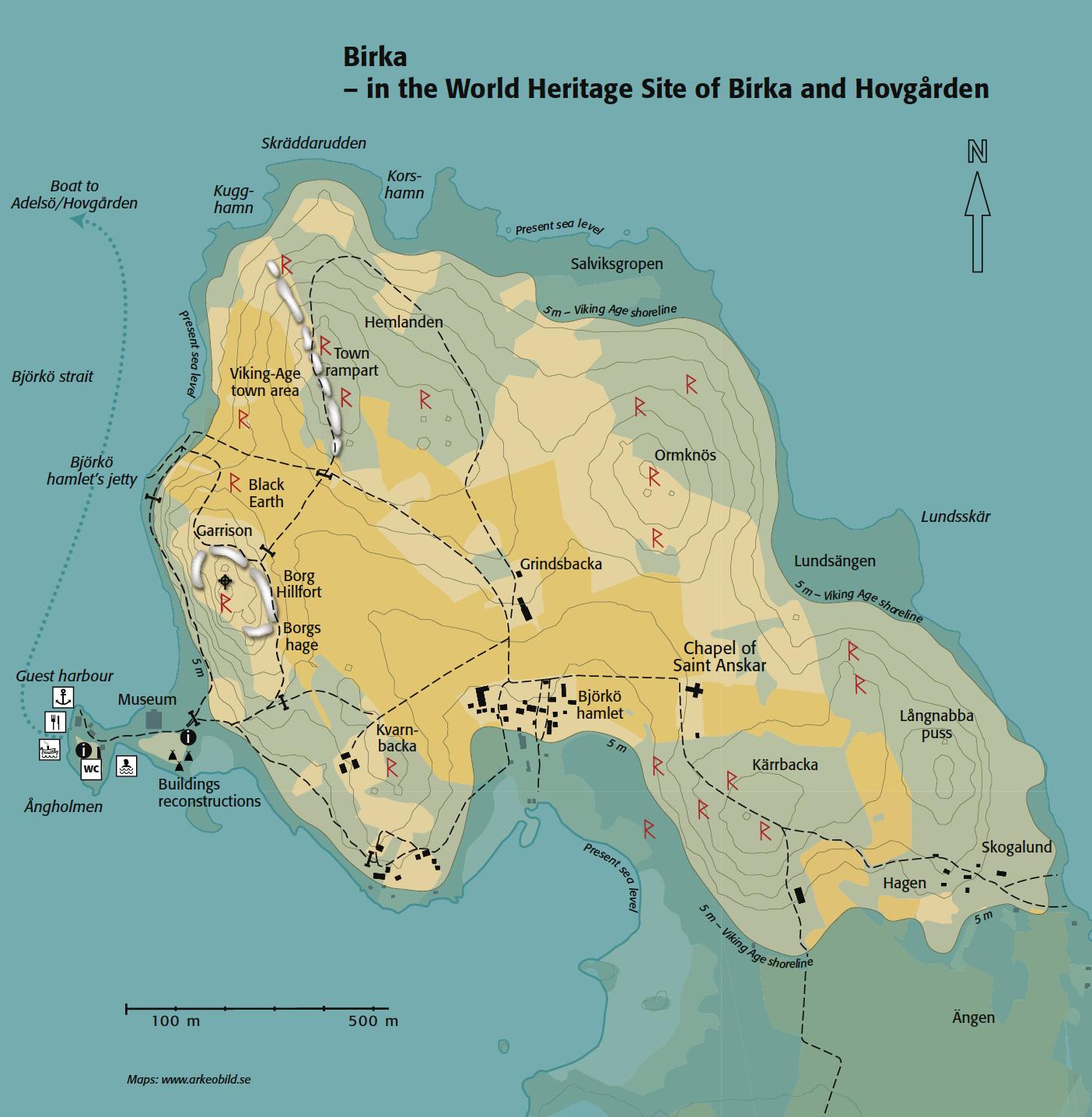 Karta till Birka, Riksantikvarieämbetet