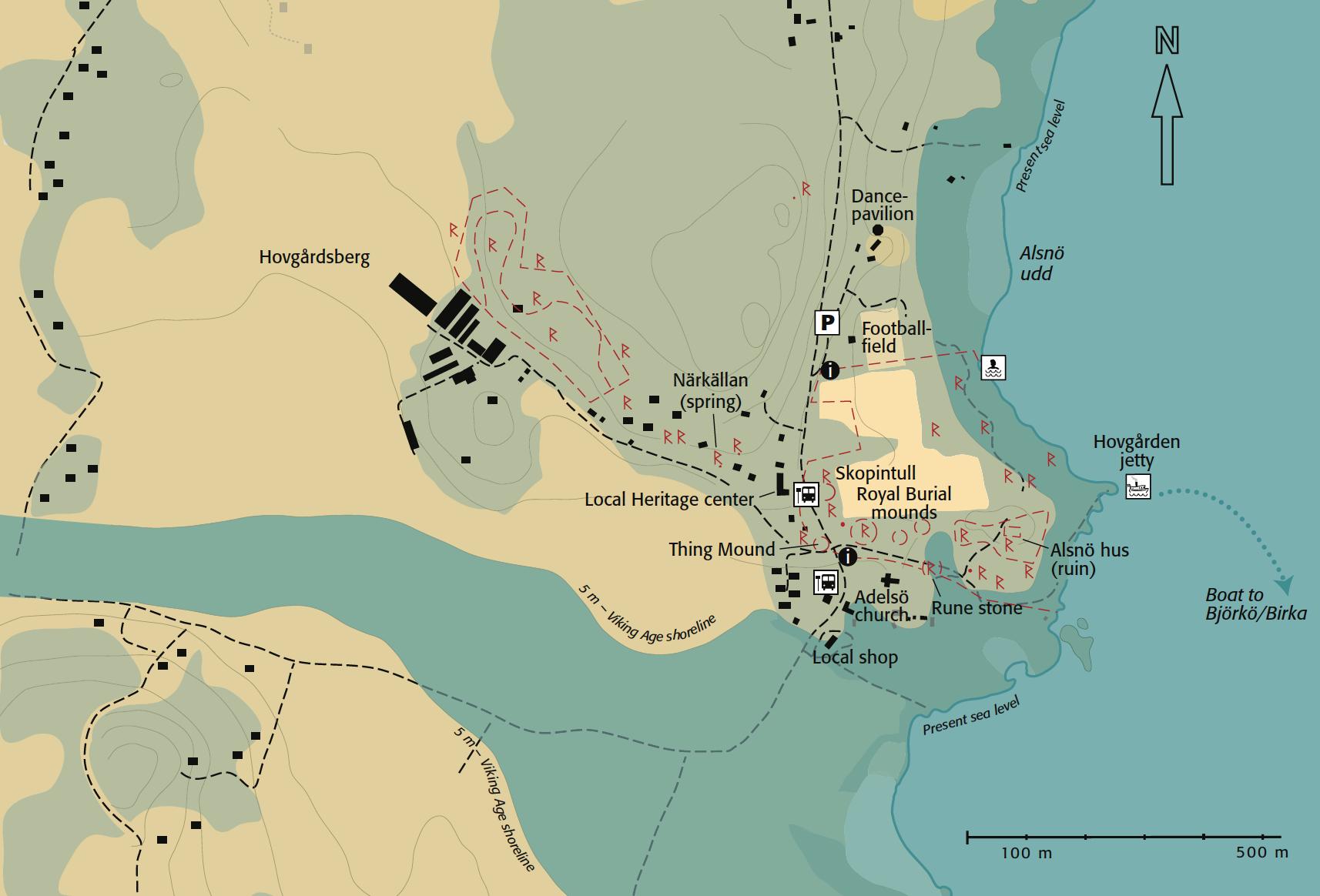 Karta över Hovgården, Riksantikvarieämbetet