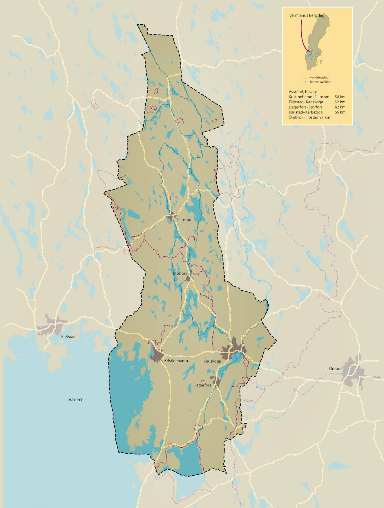 Karta östra Värmland, Filipstad kommun