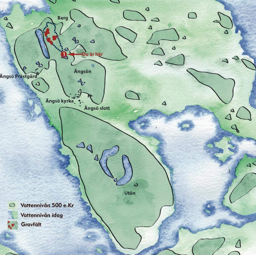 Karta över Ängsön och Utön