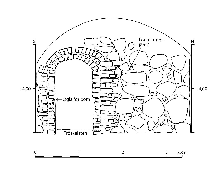A23 västra muren ritning 90