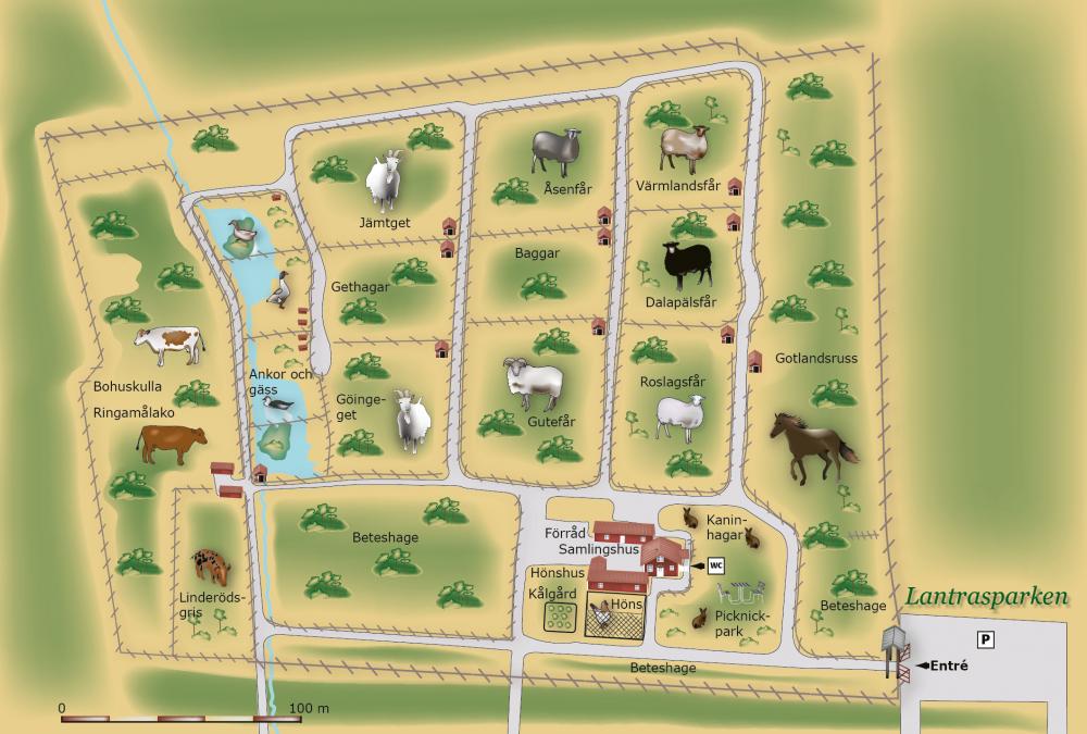 Karta Lantrasparken