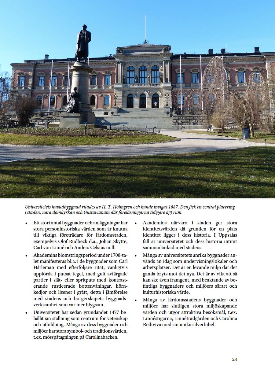 Uppsala stad Riksintresse