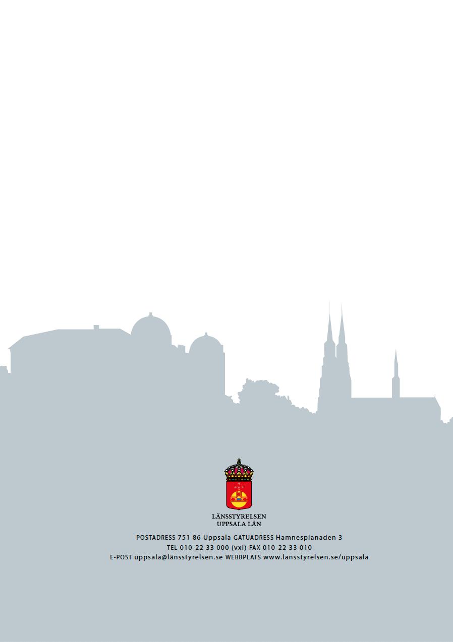 Uppsala stad Riksintresse, omslag bak