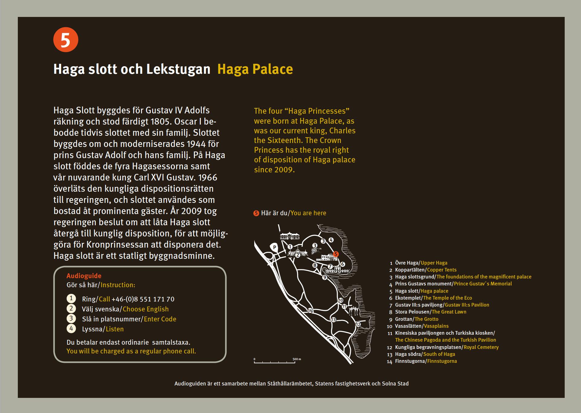 Statens Fastighetsverk skyltar vid Haga